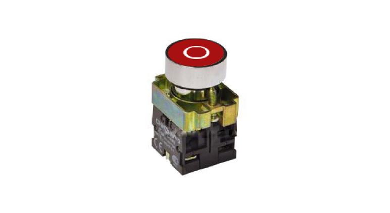 Кнопка управления NP2, с маркировкой, красная в Украине – фото 1
