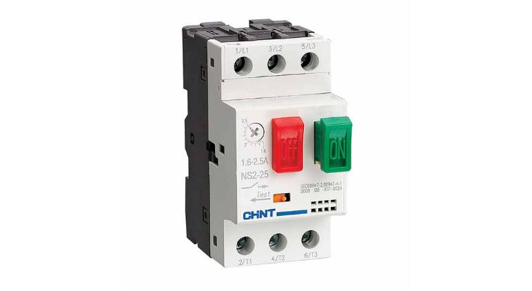 Автоматический выключатель для защиты двигателя NS2-25 0.1-0.16A в Украине – фото 1